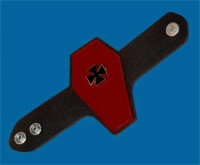 coffincrossredwristband